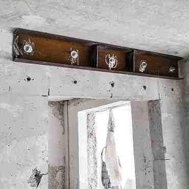Алмазная резка и укрепление дверного проёма (жил.массив Победа 4)