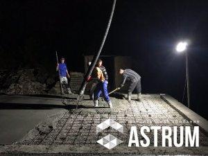 работа с бетоном ночью